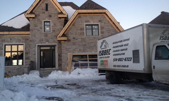 photo maison Lalande et camion Isobec région de Montréal