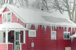glace sur la maison