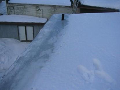 neige sur le toit